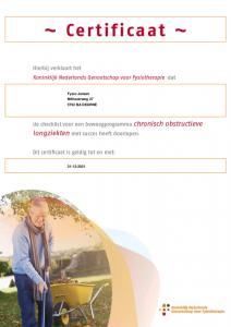 Beweegprogramma COPD Fysio Jansen