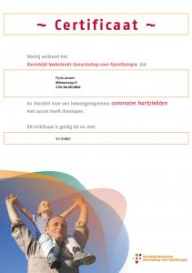 Beweegprogramma Coronaire hartziekten Fysio Jansen